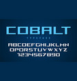 cobalt decorative font design alphabet typeface vector image