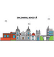 colombia bogota outline city skyline linear vector image