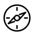 compass icon travel or navigation symbol outline vector image