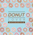 Donut Lover Background vector image