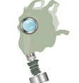 gas mask on white background vector image