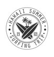 hawaii summer surfing trip since 1969 logo vector image