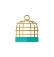 isolated birdcage flat icon bird prison vector image