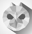 Owl head low-poly vector image