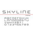 skyline decorative regular font design vector image