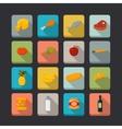 Supermarket foods icons set vector image