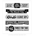 Vintage Typographic Business Banner vector image