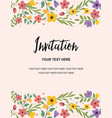 wedding party and anniversary invitation card vector image