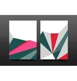 3d abstract geometric shapes Modern minimal vector image vector image
