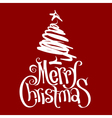 Calligraphic Christmas card vector image