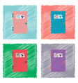 collection of flat shading style icons doctors vector image vector image