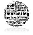 Marketing word cloud vector image vector image