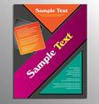 Flyer or brochure template vector image