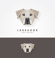 3d origami low polygon dog vector image