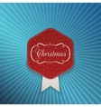 Christmas realistic red Emblem Template vector image