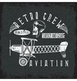 retro aviation grunge design with skullairplane vector image