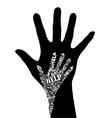 conceptual hands vector image