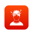 man with dizziness icon digital red vector image