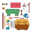Pet shop set vector image