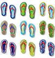 Slippers set vector image