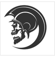 Spartan Skull and Helmet silhouette vector image