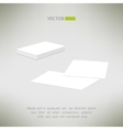 Stack of blank business cards and two single cards vector image