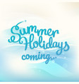 summer holidays concept with logo vector image