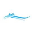 swimmer vector image