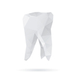 Tooth abstract isolated on a white backgrounds vector image