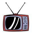 tv antenna icon cartoon vector image