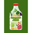 Vegetables juice Juice from fresh vegetables vector image