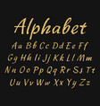 handwritten alphabet uppercase and lowercase vector image
