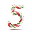 5 number five  3d number sign figure 5 in vector image