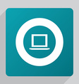 flat laptop icon vector image