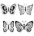 Set Butterflies Black Pictograms vector image vector image