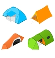 Color Camping Tent Set vector image