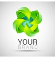 Eco green leaf logo template Green leaves Ecology vector image