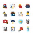 Pet Vet Icons Set vector image