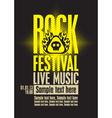 Rock festiva vector image