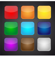 Set of color apps icons - background vector image