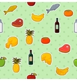 Supermarket foods seamless pattern vector image