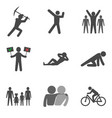 set of people stick man icons trendy flat style vector image