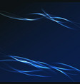 dark blue futuristic streak wave layout vector image