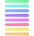 Glossy semi-transparent bars  buttons vector image