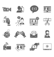 Video Blog Icons Set vector image