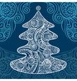 stylish christmas tree vector image vector image