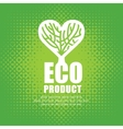 organic food with a tree vector image vector image