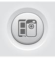 Mobile Photo Blogging Icon vector image vector image