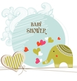 Baby shower card template vector image
