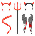 devil costume accessories for halloween isolated vector image